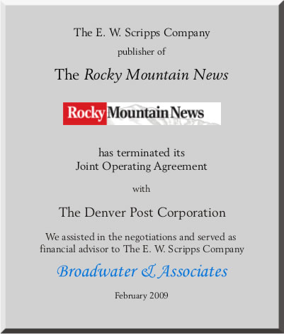 Rocky Mountain News tombstone